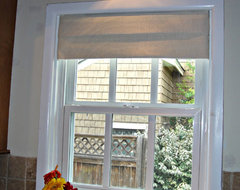 Faux roman shade valance traditional curtains