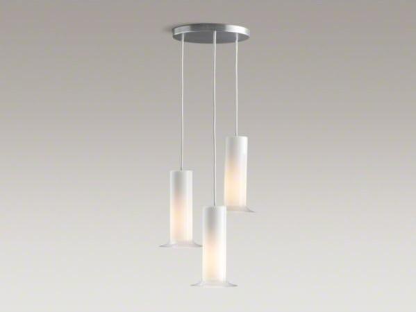 KOHLER Purist(R) triple ceiling-mount pendant contemporary-bathroom-lighting-and-vanity-lighting