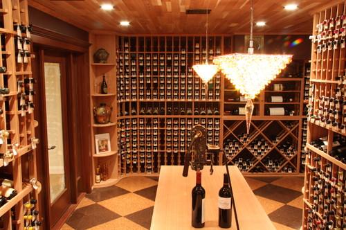 An elegant wine cellar