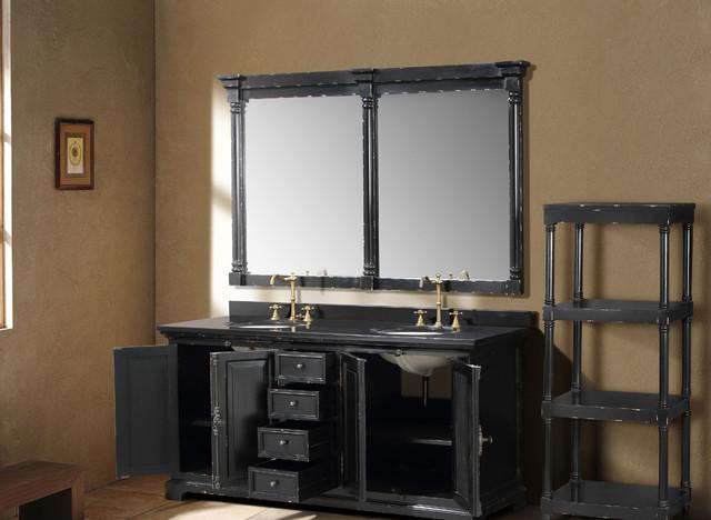 "71"" Antique Chic Double Bath Vanity - Antique Black traditional-bathroom-vanities-and-sink-consoles"