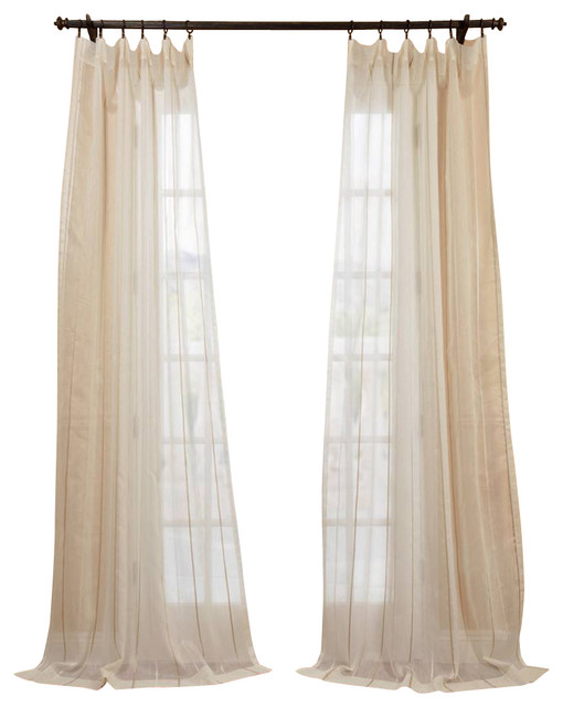 Stripe sheer curtain traditional curtains by half price drapes - Essex Natural Linen Blend Stripe Sheer Curtain