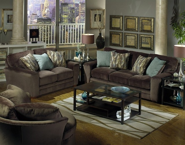 Jackson Furniture Whitney 3 Piece Living Room Set In