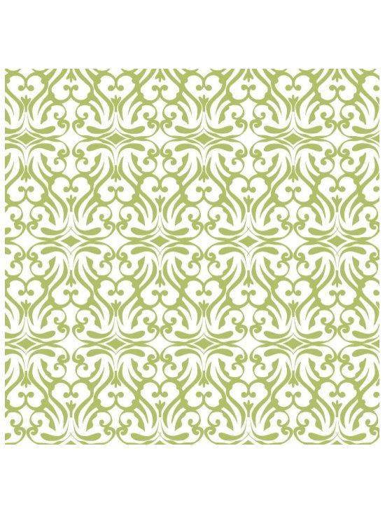 flourish print wallpaper in celadon -