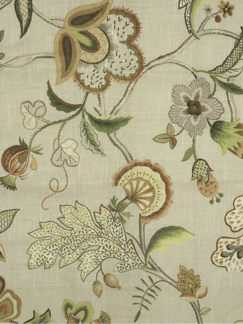 Phoebe Printed Fresh Blooms Linen Custom Made curtains contemporary