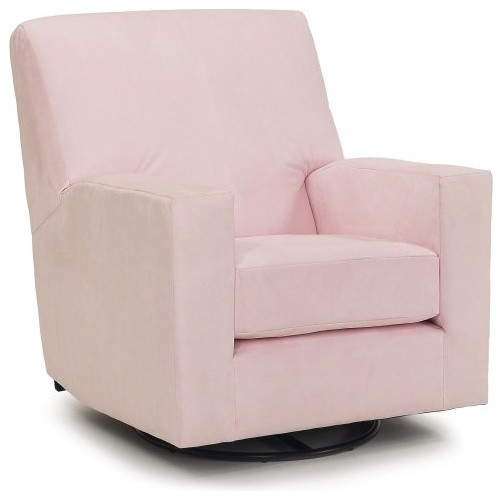 Harmony Kids Devon Glider with Optional Ottoman - Pink contemporary-rocking-chairs