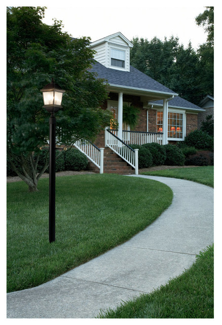 Landscape Lighting Garden Post : Single light kent outdoor post lantern lighting