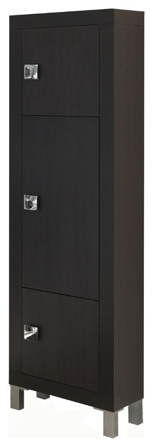 Tokyo Linen Cabinet. Wenge. contemporary-bathroom-cabinets-and-shelves