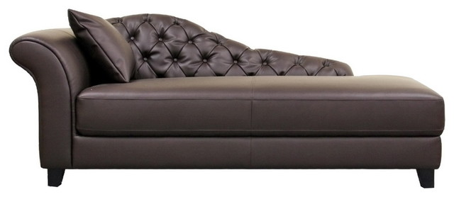 Baxton Studio Josephine Brown Victorian Modern Chaise Lounge transitional-indoor-chaise-lounge-chairs
