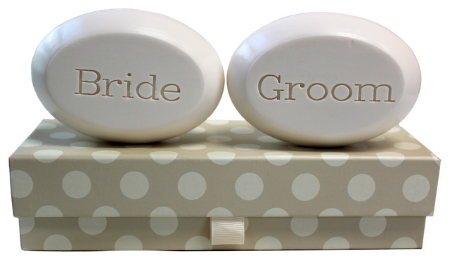 Scented Soap Bar Personalized - Bride & Groom, Lavender Mist traditional-bathroom-accessories