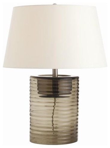 Arteriors Rhett Smoke Ribbed Glass Lamp traditional table lamps