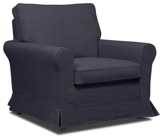 Bloomsbury Dark-Grey Premium Armchair modern-armchairs