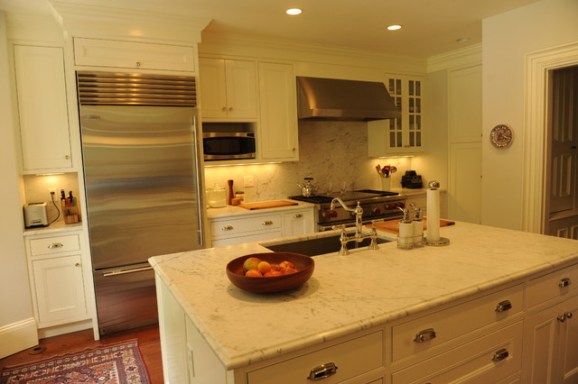 South End Row House Makeover traditional-kitchen