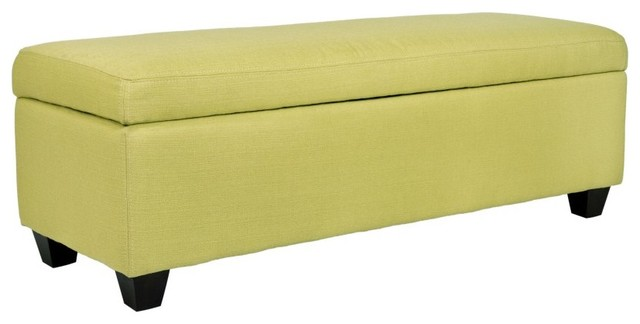 Angelo Home Kent Storage Bench Ottoman Kiwi Lime Green Basket Modern Baskets By Hayneedle