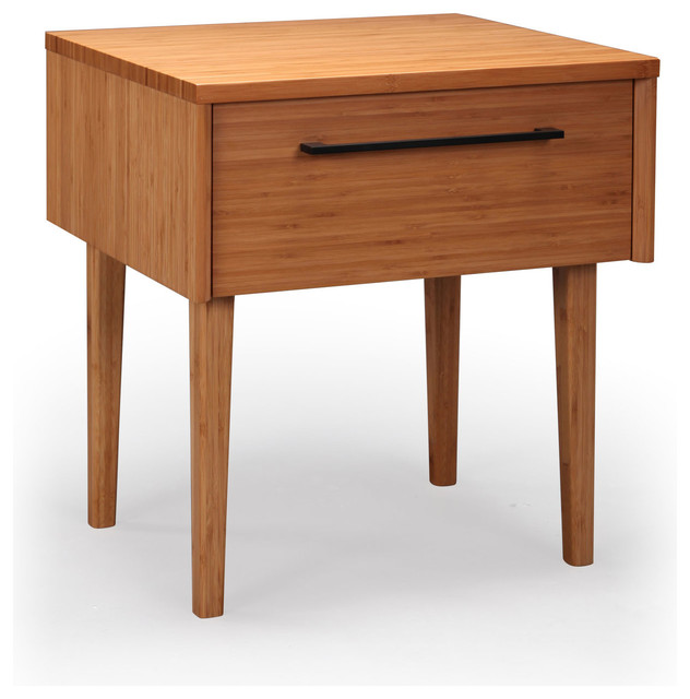 Sunny bamboo nightstand modern nightstands and bedside for Modern bedside tables nightstands