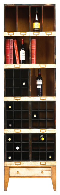 Storage Unit, Beige Black and Light Cherry Finish, Beige Black and Light Cherry, traditional-wine-and-bar-cabinets
