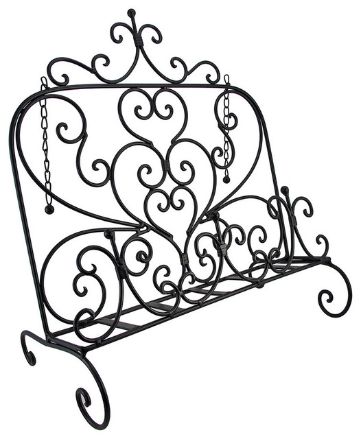 Decorative Black Metal Book or Music Stand Easel contemporary-home-decor