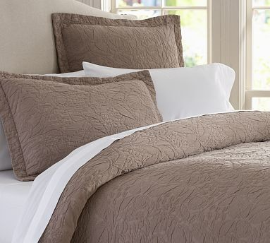 Valerie Floral Metalasse Sham, Standard, Brownstone traditional-pillowcases-and-shams