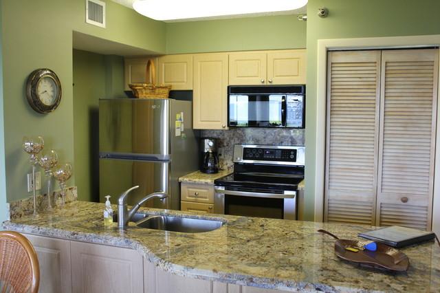 Florida Keys Oceanview Condo tropical-kitchen