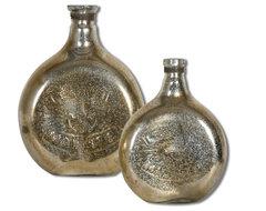 Euryl Mercury Glass Vases Set of 2 modern-vases