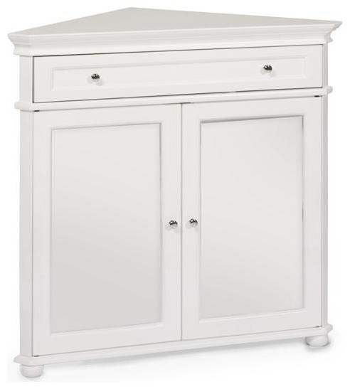 Hampton Bay 32 W Corner Cabinet With Two Wood Doors Traditional Medicine Cabinets