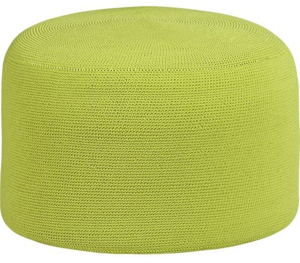 Crocheted Apple Outdoor Pouf contemporary-floor-pillows-and-poufs