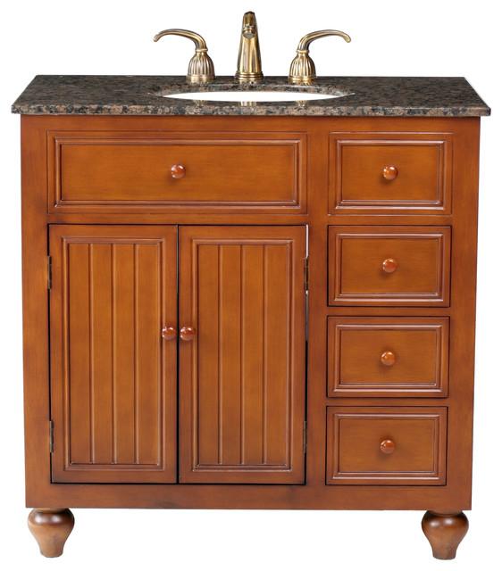 36 quot single sink vanity with baltic brown granite top