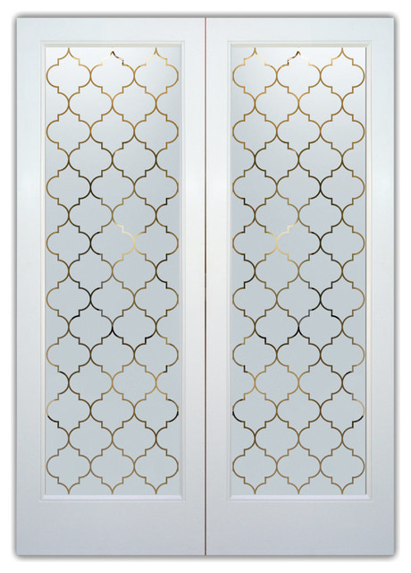Interior Glass Doors - Frosted Semi Private OGEE PATTERN ...