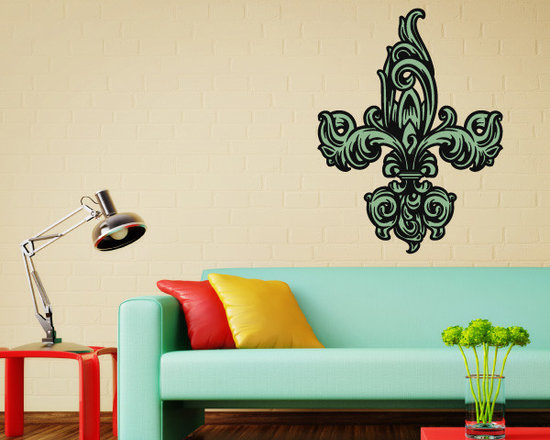 Fleur De Lis Vinyl Wall Decal FleurDeLisUScolor007; 72 in. - Vinyl Wall Decals are an awesome way to bring a room to life!