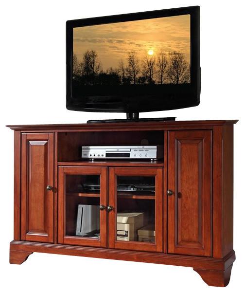 "Crosley Furniture LaFayette 48"" Corner TV Stand in Classic Cherry - Transitional - Entertainment ..."
