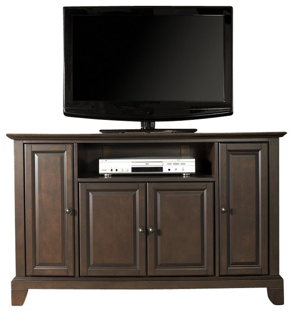 "Crosley Furniture Newport 48"" TV Stand In Vintage Mahogany"