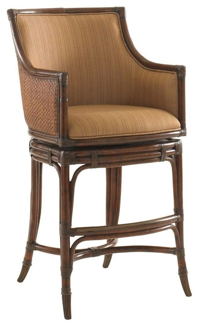 Tommy Bahama Home Landara Oceana Swivel Bar Stool Tropical Bar Stools And Counter Stools