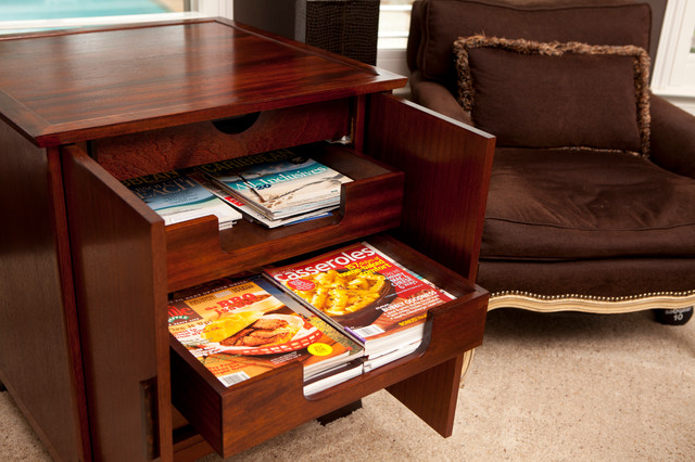 Magazine storage end table contemporary side tables end tables houston by texas woodworks - Contemporary side tables with storage ...