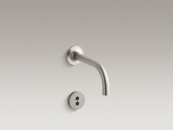 """KOHLER Purist(R) wall-mount commercial bathroom sink faucet trim with 6"""" 90-degr contemporary-bathroom-faucets"""