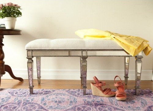 masterpiece tufted cotton wooden entryway bench modern bedroom benches