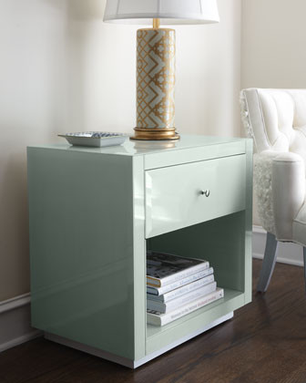 Ocean Glass Side Table - Horchow  side tables and accent tables