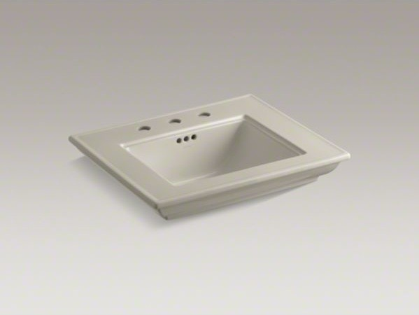 """KOHLER Memoirs(R) stately bathroom sink basin with 8"""" widespread faucet holes contemporary-bathroom-sinks"""