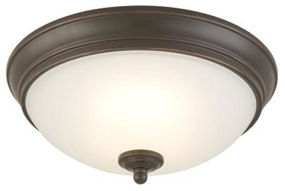Commercial Electric Oil Rubbed Bronze LED Flush Mount HUI8011L-2/ORB contemporary-ceiling-lighting