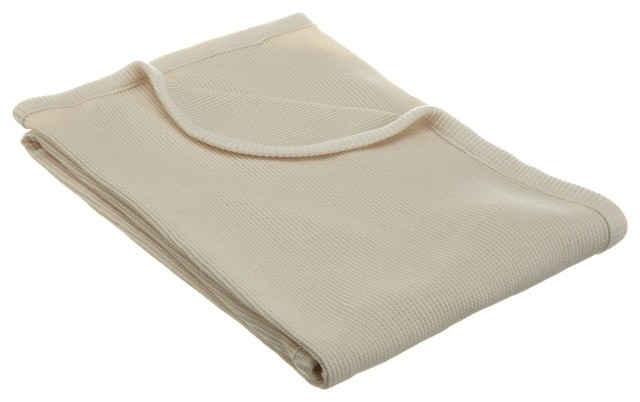 American Baby Company Organic Cotton Thermal Blanket, Natural modern-baby-bedding