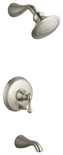 KOHLER Revival Rite-Temp Pressure-Balancing Bath and Shower Faucet Trim contemporary-showers