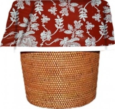 Red Toile Waste Basket Bags   Decorative - Reusable - Biodegradable - 12 Pack traditional-wastebaskets