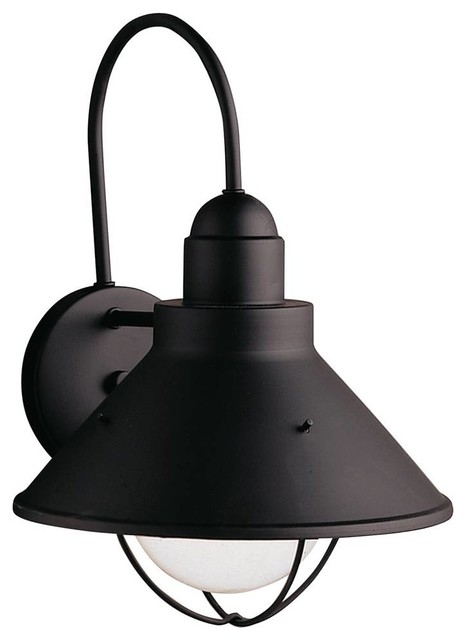 Black Rustic Wall Lights : Kichler Seaside Outdoor Wall Mount Light Fixture in Black (Painted) - Rustic - Outdoor Wall ...