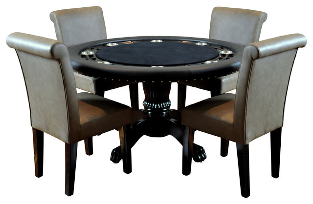 BBO Poker The Nighthawk Round Poker Table Set with 4