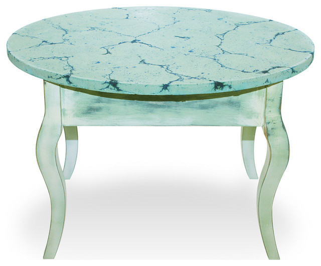 French distressed oval end table farmhouse coffee for Oval farmhouse coffee table