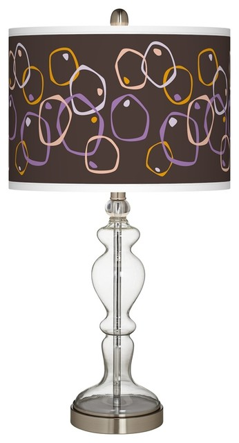 Arts and Crafts - Mission Linger Giclee Apothecary Clear Glass Table Lamp traditional-table-lamps