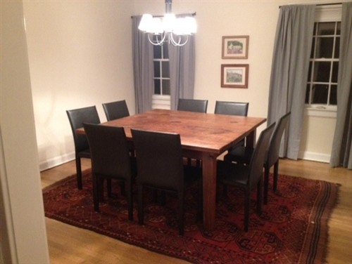 square 8 seat dining table in customer 39 s home farmhouse
