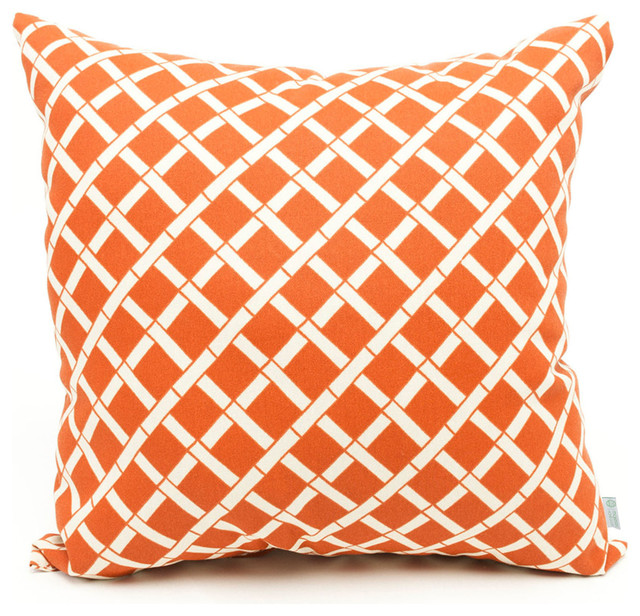 All Modern Outdoor Pillows : Outdoor Burnt Orange Bamboo Pillow - Contemporary - Outdoor Cushions And Pillows - by Majestic ...