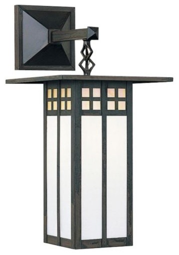 Glasgow outdoor wall sconce by arroyo craftsman modern for Modern craftsman lighting