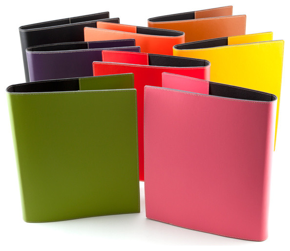 Bella 3-Ring Leather Binders contemporary-desk-accessories