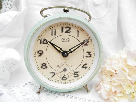 Vintage French Alarm Clock By Vintage Decor Francais