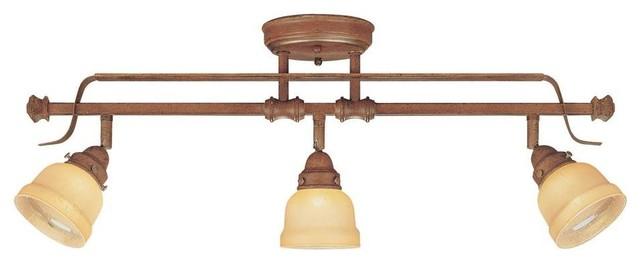 Hampton Bay Ceiling Mounted Lighting 3 Light Adjustable Semi Flush Mount Walnut Contemporary